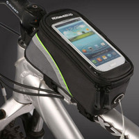 bicycle rack basket - Cycling Riding Bicycle Frame Pannier Waterproof Bike Bag Touchscreen Phone Case Front Top Tube Basket Trunk Outdoor Rack Pouch