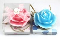 american scented candles - EMS newest hot sell in European and American flos hibisci mutabilis candle with pink and blue two colors