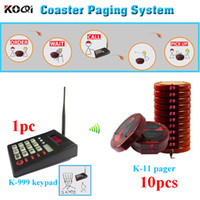 Wholesale Restaurant guest pager system coaster pager for restaurant queue system hotel pager waiter system wireless calling system