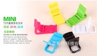 Cheap Wholesale-2015 Beach Chair Support For Mobile Phone Universal Color Plastic Bracket Folding Toilet Y5599