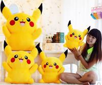 al por mayor s lindo peluche-Cute dibujos animados Poke peluche muñeca de juguete Pikachu peluche de algodón de los PP rellenos de juguete de felpa Peluches animales juguetes de peluche juguetes y regalos