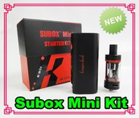 Cheap Kanger Subox mini starter kit Sub tank mini 4.5ml atomizer RDA KBOX 5-50W Variable Wattage Box Mods E cigs kangertech vapor Kits