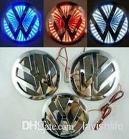 auto led light - 3D Waterproof Light Car Badge VW Volkswagen Logo LED Lamp Emblem Durable Car Sticker DIY Auto Decoration Diameter cm Car Sticker