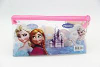 Wholesale PVC FROZEN Princess Pencil case pen bag stationery school supplies Elsa Anna Cartoon Girls Children Kid Favor Party Gift