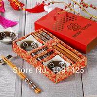 Wholesale Sushi set chinaware Chanko Dining chopsticks dinnerware dinner set gift box Chinaware