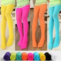 kids pantyhose - Girls Dance Kids Stockings Y Children Leggings Tights Pantyhose For Baby Girls Cute Velvet Tights Spring Autumn Candy Color