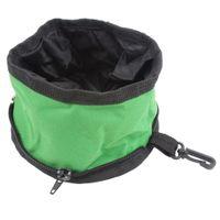 Wholesale Fold Fabric Portable Travel Dog Pet Food Water Bowl Random Color