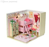 best wooden dollhouse - D Assembling DIY My friends and I room Wooden Doll House Kids Educational DIY Dollhouse best Gift Toy with girls