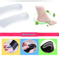 Wholesale NEW Pairs Gel Heel Cushion Protector Foot Feet Care Shoe Insert Pad Insole Foot Care Tool H12945