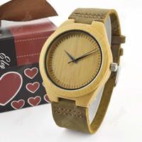 2016 relojes de bambú venden como relojes de la correa de cuero de alta calidad forma la tabla de madera superventas Europa y América del estilo libre sh