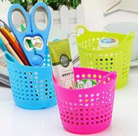 Wholesale Colorful Plastic Table Organizer Storage Baskets Cosmetic Multi purpose Mini Basket Storage