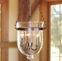 barn lantern lights - Glass Lantern Pendant Pottery Barn Style Chandelier Candle Dining Light Fixture for dinning room kitchen coffee bar