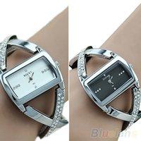 accent belt - Fashion Womens Crystal Rhinestone Stainless Steel Accent PU Leather Strap Analog Quartz Dress Bracelet Wrist Watch NMN