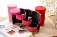jewellery gift boxes - Three Layers Jewelry Boxes Jewellery Gift Box For Stud Earrings Necklace Bracelets Retail March Style