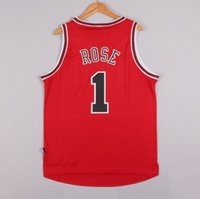 chicago bull - Bulls Derrick Rose Jersey Shirts Road Jersey Newest Chicago Red Embroidery Basketball Jerseys Chicago Top Quality