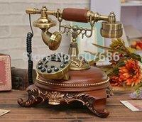 antique reproduction phones - Reproduction Retro Style Decorator Phone Wood Resin Metal Corded Telephone Classic Vintage Antique Craft Decor