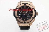 new black power - Luxury Swiss Best Brand Black Stainless Rubber Watch Buckles Modern Men Quartz Chronograph King Power Watches Fashion Big Mens Wristwatch