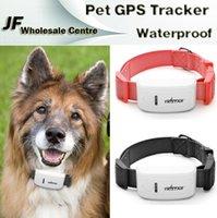 Wholesale 2015 TK909 Mini Pet GPS Tracker Collar Waterproof For Dog Cat Control Mini Global Locator Real Time GPS Tracking Tool via iOS Android App