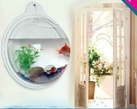 Wholesale Many size Arcylic Wall Mounted Fish Tank Wall Aquariums Easy to Change Water
