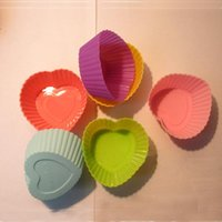 Wholesale Silicone Cake Moulds cm Colorful Muffin Cup Cake Moulds FDA SGS Non toxic Tasteless Non stick Bakeware Cupcakes