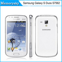 Wholesale Original Samsung Galaxy S Duos S7562 cell phone MP camera wifi GPS g android dual sim phone refurbished in stock