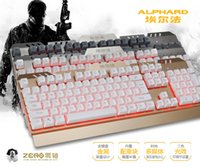 alluminium wire - Alluminium Backlit Backlight keyboard Wired Mechanical Keyboard With USB for Gaming Net Bar