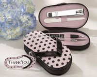Wholesale lastest fashion Vouge cute pink Pink Polka Purse slippers manicure sets pedicure for wedding bridal festival party Decoration Cheap In Stock