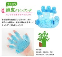 best shower massage - Best price Dog Puppy Pet Plastic Bath Shower Brush Comb Massage Palm Hand Blue Pink