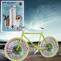 Wholesale Superb New LED Waterproof Cycling Bike Bicycle Tire Wheel Valve Flashing Spoke Light Alipower