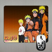 anime laptop skins - New Arrival Top Japanese Anime Naruto Progress Skin Printing Computer PC Rectangle Mouse Pad for Laptop Optical Mosue Mice