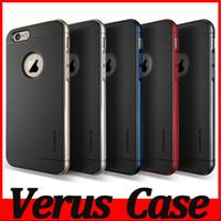 Plastic iphone 4 - Verus DAMDA Hybrid Hard PC TPU Case For iPhone S S Plus iPhone SE S Galaxy S6 Note Cover Bumblebee Logo Hole Armor MOQ