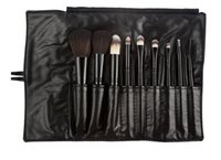 best eyebrow powder - Best Deal Makeup Brush Sets Professional Cosmetics Brushes Eyebrow Eye Brow Powder Lipsticks Shadows Make Up Tool Kit Pouch Bag