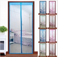 Wholesale Magnetic soft screen door Magnetic stripe curtain Anti Mosquito screen door HF37 order lt no track