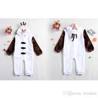 Wholesale Olaf Costume Onesies Pajamas Jumpsuit Hoodies Baby One Piece Romper Children Clothes Kids Clothing Boys Girls Jumpsuit