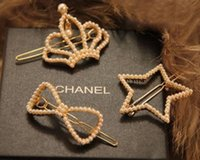 Wholesale Fashion Crown Stars Bowknot Pearl Inlaid Molding Hair Clips Bobby Pin Hair Accessories