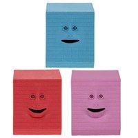 face bank money box - NEW Brick Face Bank Saving Sensor Coin Money Eating Box fot Kids Gifts HOT
