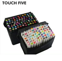 Wholesale TouchFive Art TOUCHTWIN paint marker Set COLORS Twin tips manga illust Drawing rotuladores colores copic sketch markers Pen
