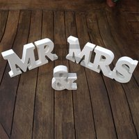 alphabet party supplies - Cheap White MR MRS Wedding Props Fashion Alphabet Wedding Supplies Romantic Letters Engagement Accessories Hot Sale