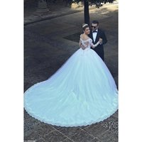 Wholesale Custom Made Charming Princess Wedding Dresses Sweetheart Applique Lace Backless Wedding Gowns Ball Gown Wedding Dresses