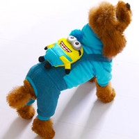 Cheap Coats, Jackets & Outerwears Minions Dog Clothes Best Fall/Winter Chirstmas Cartoon Dog Clothes