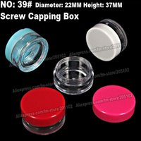 art glass etching - 15pcs x37mm screw capping bottle boxes jars acrylic nail art box case portable storage container diy parts stones tools