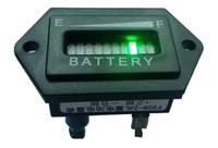 al por mayor indicador de carga de la batería-Hexágono 10 bar LED Digital Indicador de carga Indicador de carga con indicación de tensión Para carro de golf, motocicleta, barredora.12V 24V 36V 48V 60V
