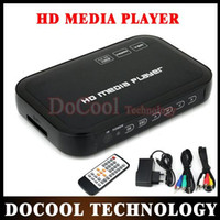 Wholesale 10PCS P Full HD HDD Media Player SD USB HDD HDMI AV VGA AV YPbpr Support DIVX AVI RMVB MP4 H FLV MKV Music Movie