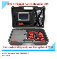 Wholesale DHL original car diagnostic computer Autel madxidas ds708 universal car diagnostic scanner free updatewith bluetooth