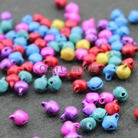 Wholesale 3000pcs mm Silver Iron Jingle Bells Instant Party mixed colors or silver tone lead free