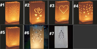 art paper holiday bag - Blank Plain White Candle Paper Bag Luminary Lantern Party Light Flame Proof