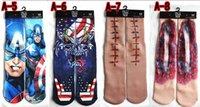 rocking skateboard - Cotton skateboard harajuku sport D print basketball men socks unisex high quality odd future long hiphop punk rock sock