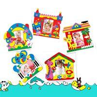 Wholesale New Baby toys Kids DIY Crafts Handmade Toy EVA Foam Sticker Self adhesive Photo Frames Toys Brand Children gifts