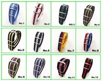 Wholesale Hot High quality MM Nylon Watch band NATO waterproof watch strap fashion wach band color available