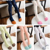 Wholesale Super adorable kittens and fish summer new cartoon girls velvet stockings pantyhose bottoming tights
